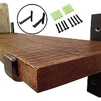 addgrace 2パック – リップブラケットブラックIronフローティングシェルフIndustrial Decorativeシェルフ壁ブラケット 12