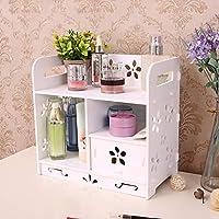 化粧品ディスプレイボックス、引き出し付きプラスチック化粧品収納ボックス、デスクトップバスルーム化粧品オーガナイザーの寝室、バスルーム化粧品管理ボックス,A