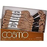 cosmo 25番刺しゅう糸 8m束 Col.383 グレー 系 1箱 6束入り