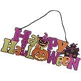 Fenteer ハンギングボード ハロウィーン 装飾 看板 写真背景 3タイプ選べ - 42.5*16*0.5cm