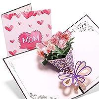 3d Popカード、フラワーカード、誕生日カード、母の日カード、グリーティングカード