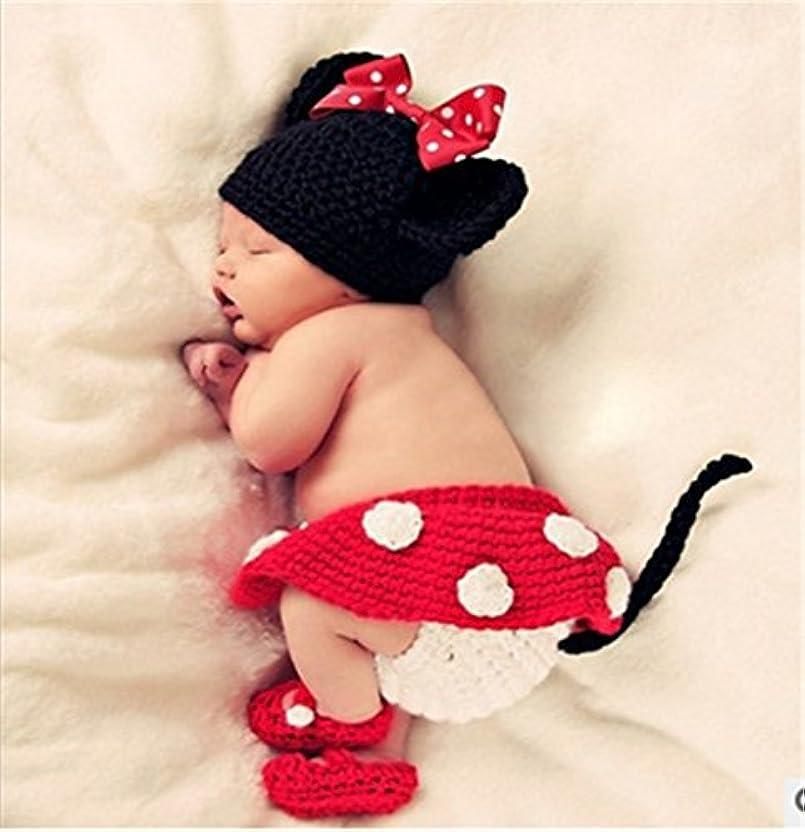 威するすなわち疫病SHINA ファッション、新型なデザイン 手作り 柔らかな ミッキー 赤ちゃん可愛い 編み服 撮影 動物型の衣装