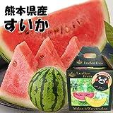 【 熊本県産 】 大玉 すいか 西瓜 秀品 3kg~4kg