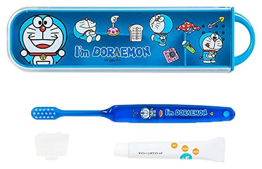 お風呂を持っているハイブリッド触覚ドラえもん スライドケース入り歯ブラシセット(I'm DORAEMON)