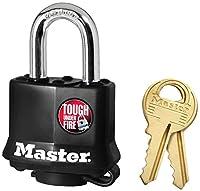 Master Lock 311D Black Outdoor Padlock [並行輸入品]