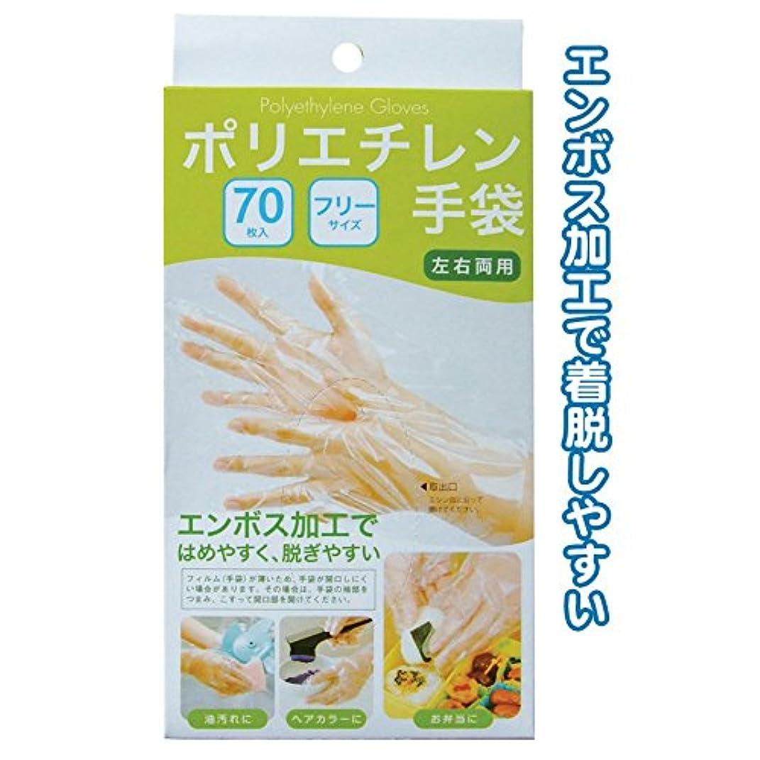 ナット拡大するネーピアダンロップ 使い捨てポリエチレン手袋70枚入BOX 【まとめ買い10個セット】 45-675