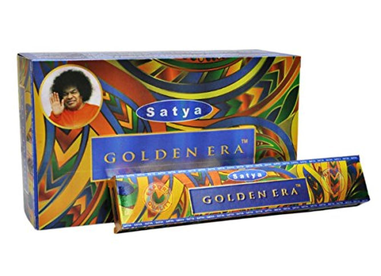 束ねる口ひげ位置づけるSatya Golden Era Incense Sticks 15グラムパック、12カウントin aボックス