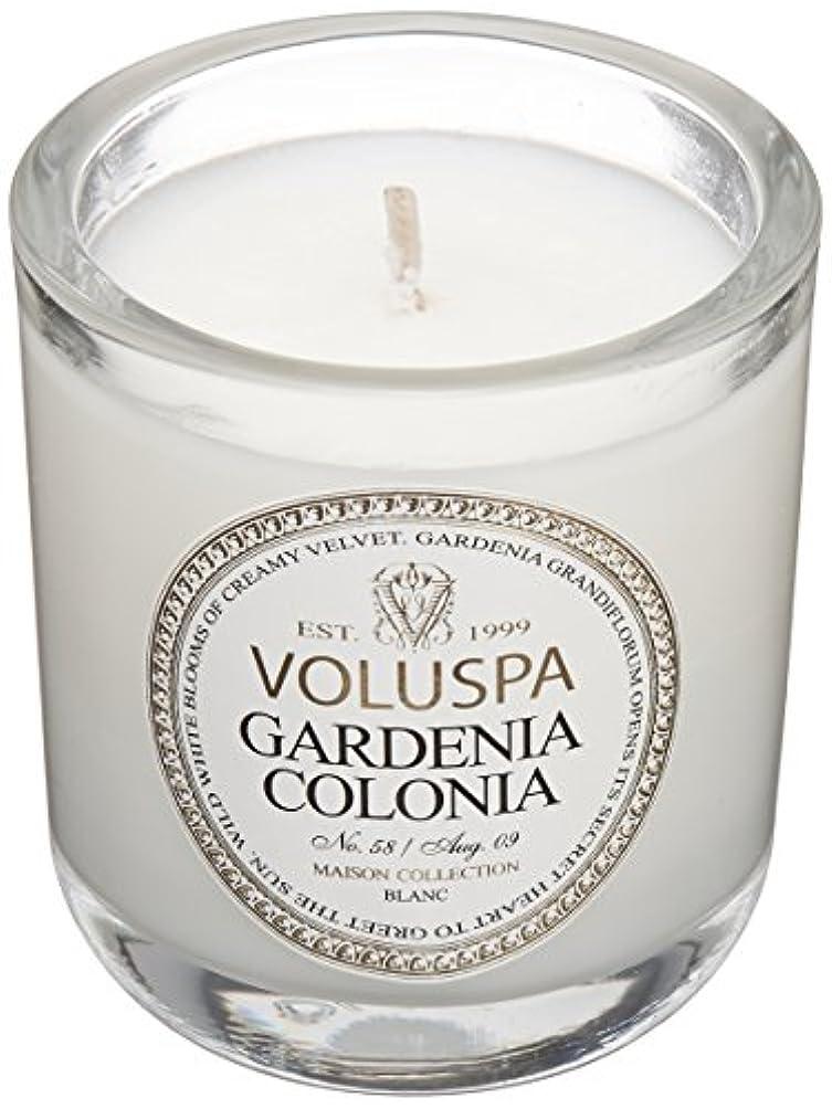 傷つきやすい最適クラックポットVoluspa ボルスパ メゾンブラン ミニグラスキャンドル ガーデニアコロニア MAISON BLANC Mini Glass Candle GARDENIA COLONIA