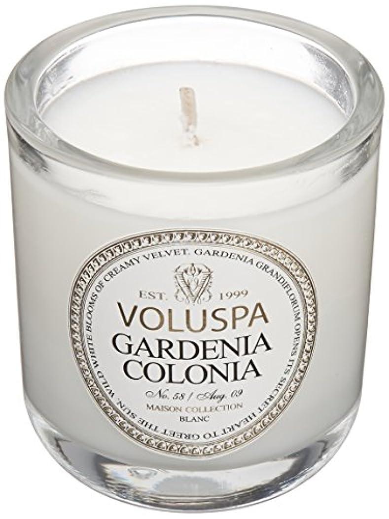 アスレチックシャープジムVoluspa ボルスパ メゾンブラン ミニグラスキャンドル ガーデニアコロニア MAISON BLANC Mini Glass Candle GARDENIA COLONIA