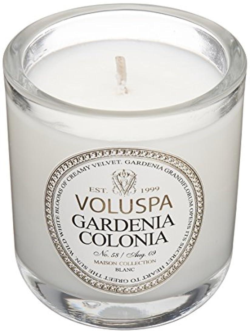 ネット合金ブランド名Voluspa ボルスパ メゾンブラン ミニグラスキャンドル ガーデニアコロニア MAISON BLANC Mini Glass Candle GARDENIA COLONIA