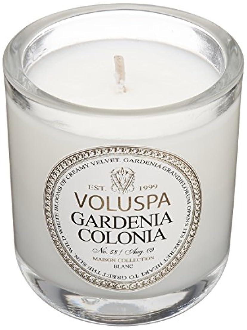 悪化させる第四確実Voluspa ボルスパ メゾンブラン ミニグラスキャンドル ガーデニアコロニア MAISON BLANC Mini Glass Candle GARDENIA COLONIA