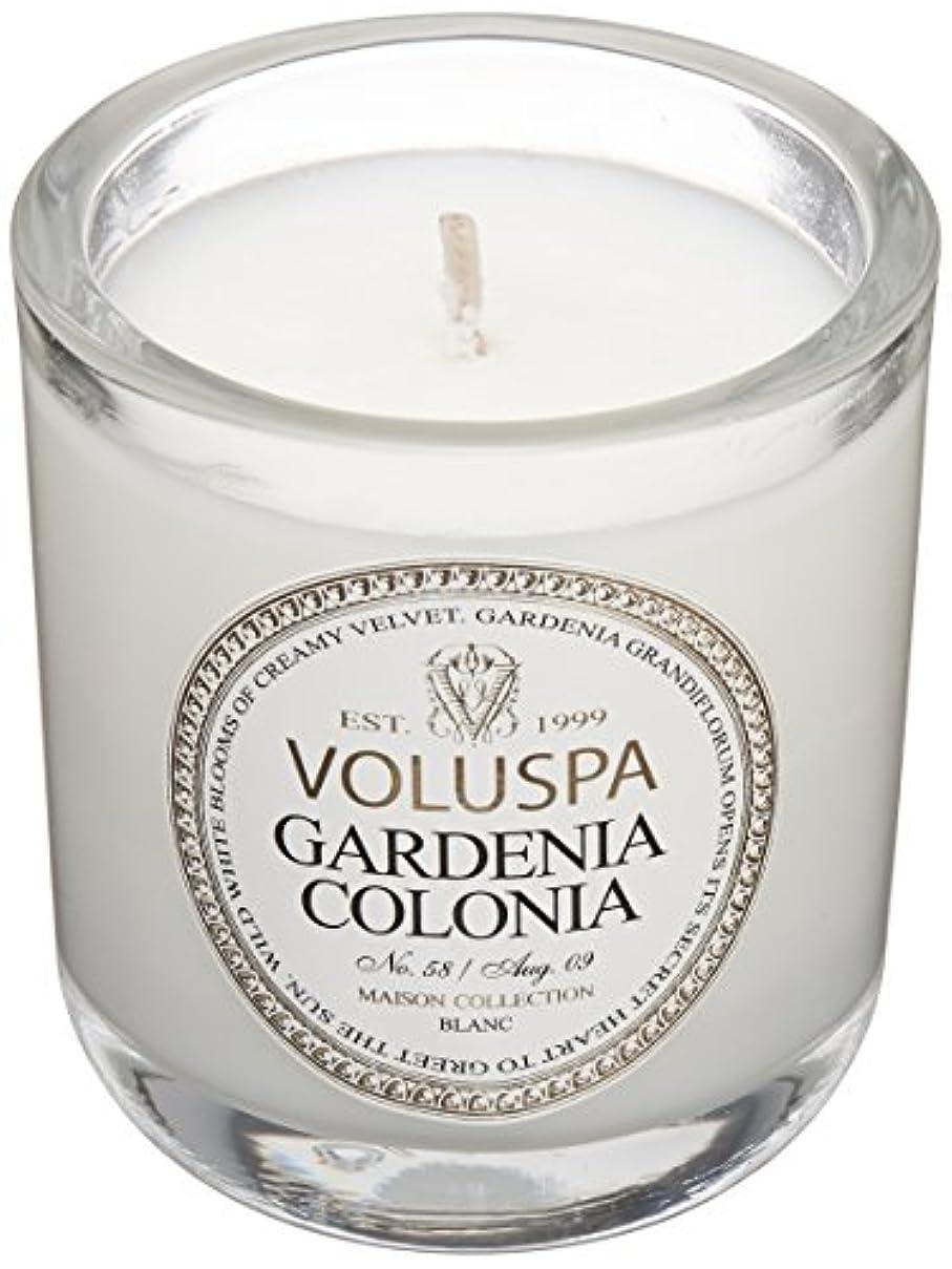 拷問処方するガイドVoluspa ボルスパ メゾンブラン ミニグラスキャンドル ガーデニアコロニア MAISON BLANC Mini Glass Candle GARDENIA COLONIA