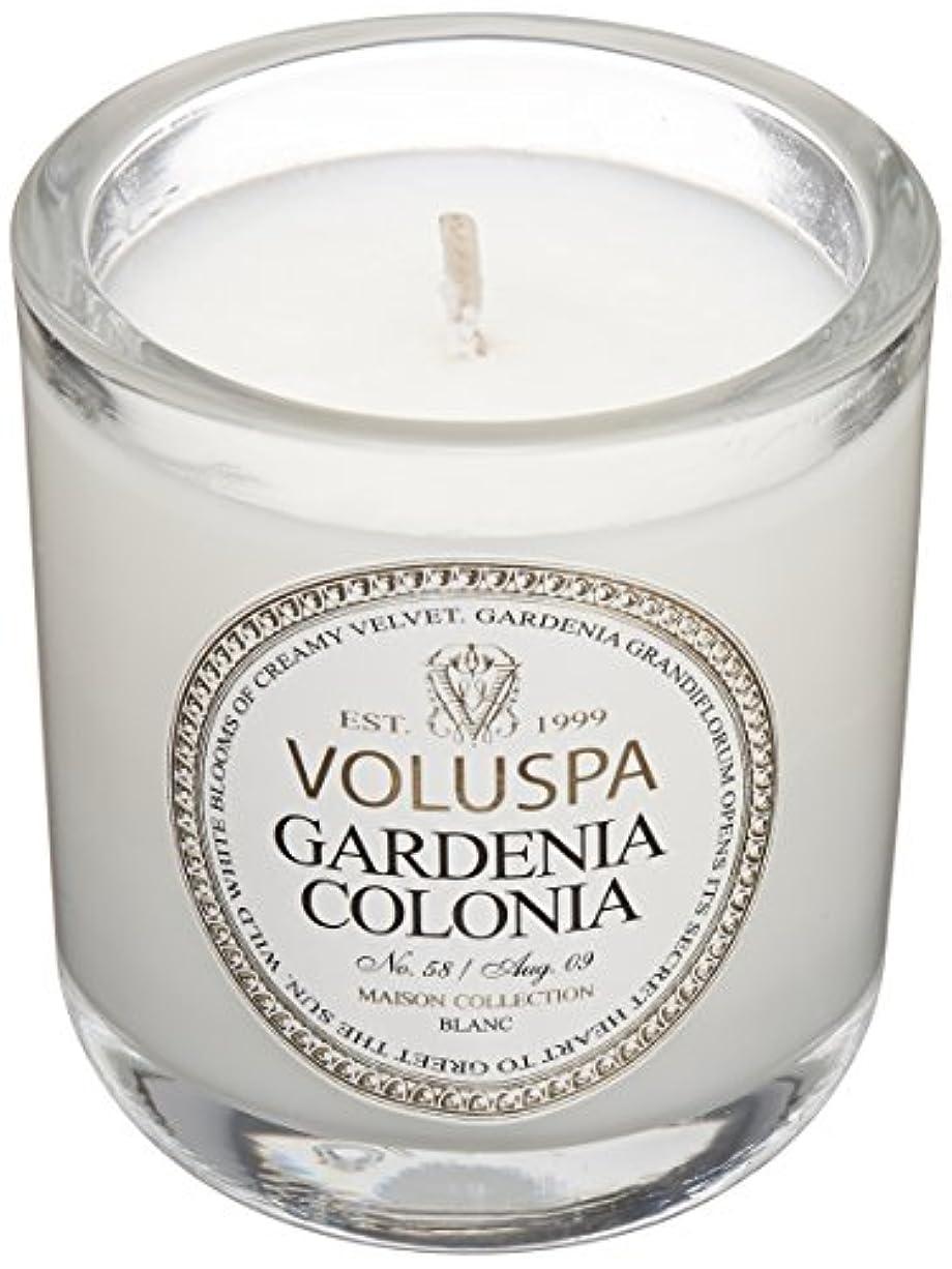 寛大さ自我好みVoluspa ボルスパ メゾンブラン ミニグラスキャンドル ガーデニアコロニア MAISON BLANC Mini Glass Candle GARDENIA COLONIA