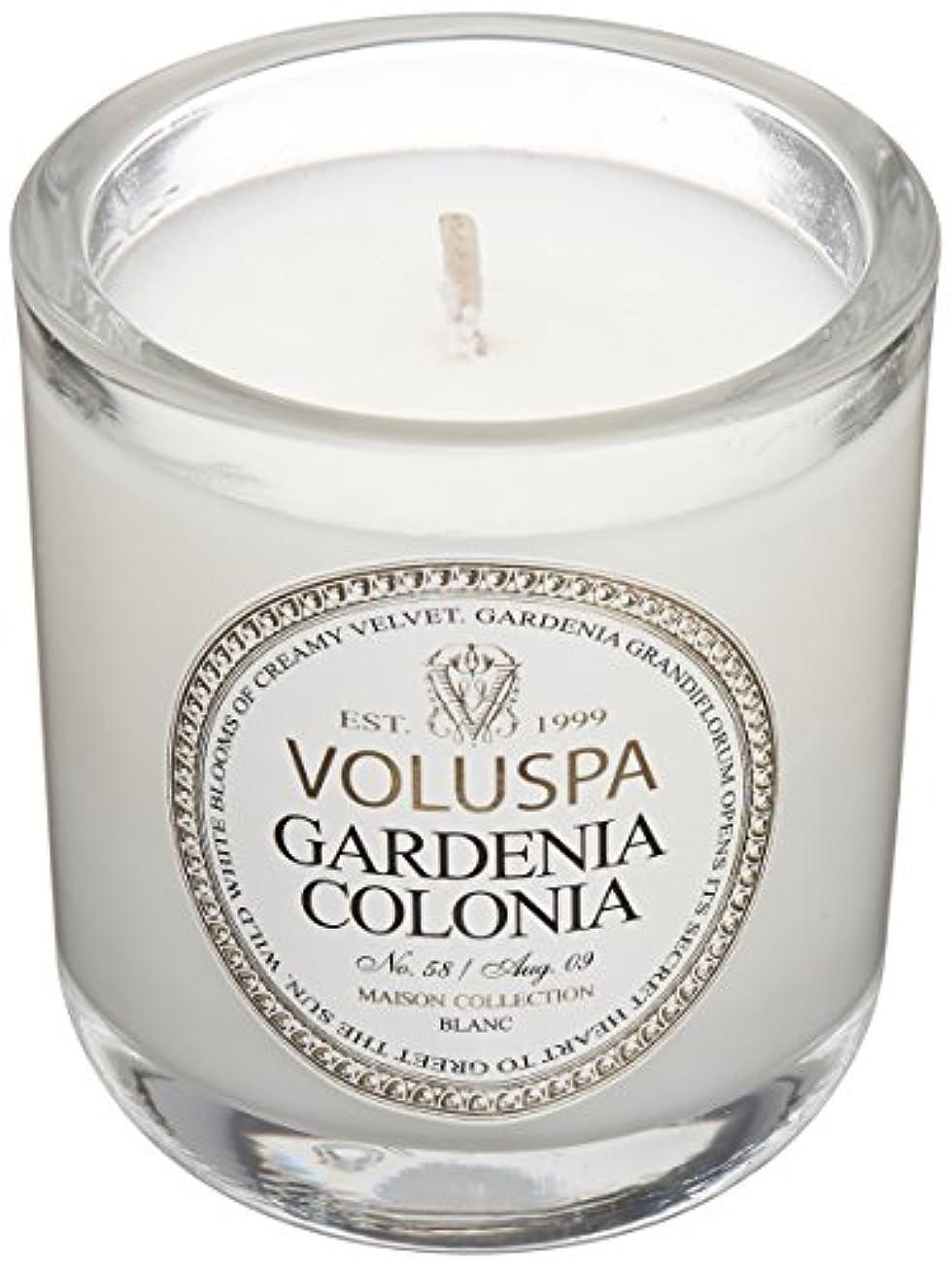 毎年疲労櫛Voluspa ボルスパ メゾンブラン ミニグラスキャンドル ガーデニアコロニア MAISON BLANC Mini Glass Candle GARDENIA COLONIA