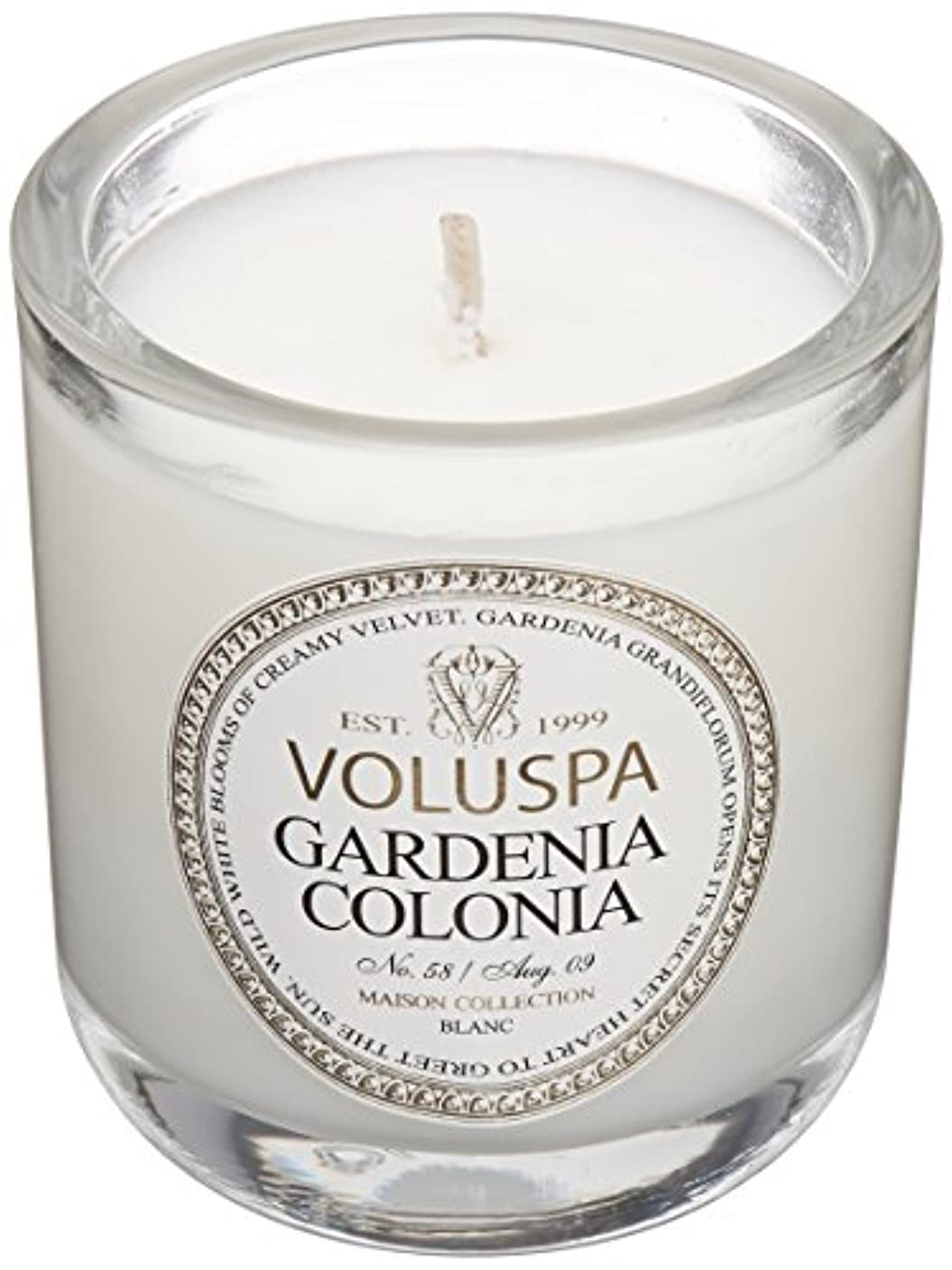 ミニチュアピーブ旅行者Voluspa ボルスパ メゾンブラン ミニグラスキャンドル ガーデニアコロニア MAISON BLANC Mini Glass Candle GARDENIA COLONIA