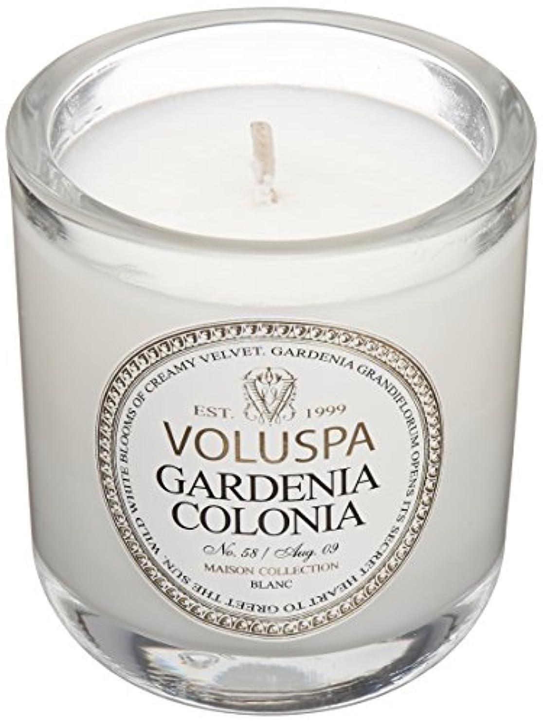 いらいらする秋ワーカーVoluspa ボルスパ メゾンブラン ミニグラスキャンドル ガーデニアコロニア MAISON BLANC Mini Glass Candle GARDENIA COLONIA