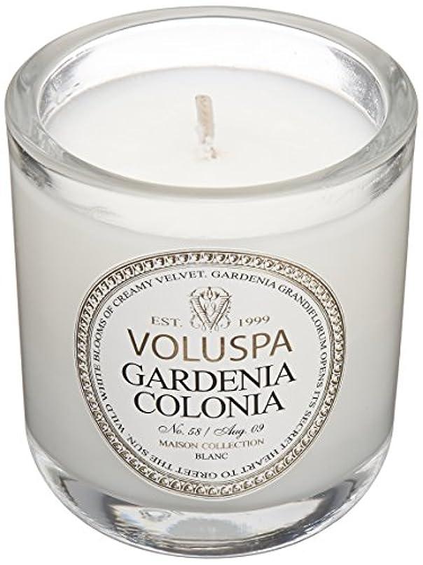 派生する素晴らしい割り当てVoluspa ボルスパ メゾンブラン ミニグラスキャンドル ガーデニアコロニア MAISON BLANC Mini Glass Candle GARDENIA COLONIA