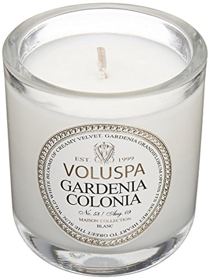 ストレスの多い三解凍する、雪解け、霜解けVoluspa ボルスパ メゾンブラン ミニグラスキャンドル ガーデニアコロニア MAISON BLANC Mini Glass Candle GARDENIA COLONIA