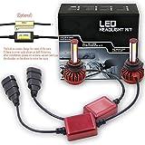 Wiseshine 9005 hb3 6000k 高効率 LED ヘッドライト一体型 COB led 電球 canbusデザイン( クールホワイト)