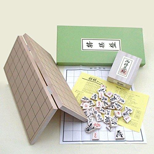 将棋セット 新桂5号折将棋盤と優良押駒のセット -