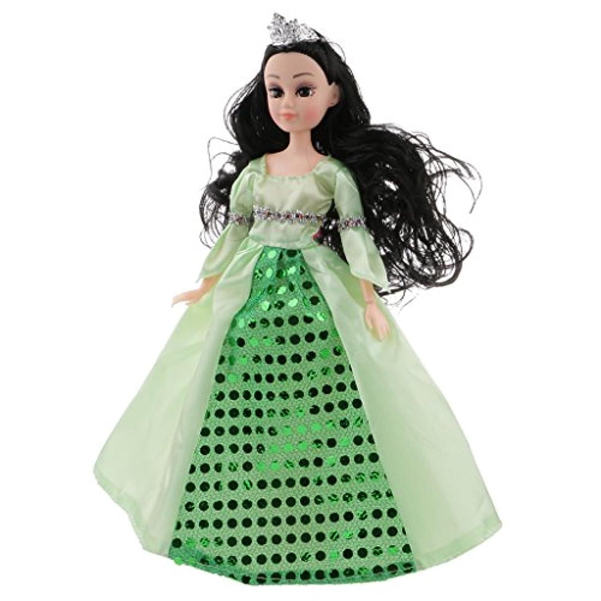 バルク行商人専門お姫の人形 典雅スーツ おとぎ話 王女の人形 ホームの飾り 女の子 贈り物 全3パタン - 緑, ドール(幅x高さ):約7×30センチメートル