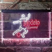 Modelo Especial Football Bar LED看板 ネオンサイン バーライト 電飾 ビールバー 広告用標識 ホワイト+レッド 30cm x 20cm