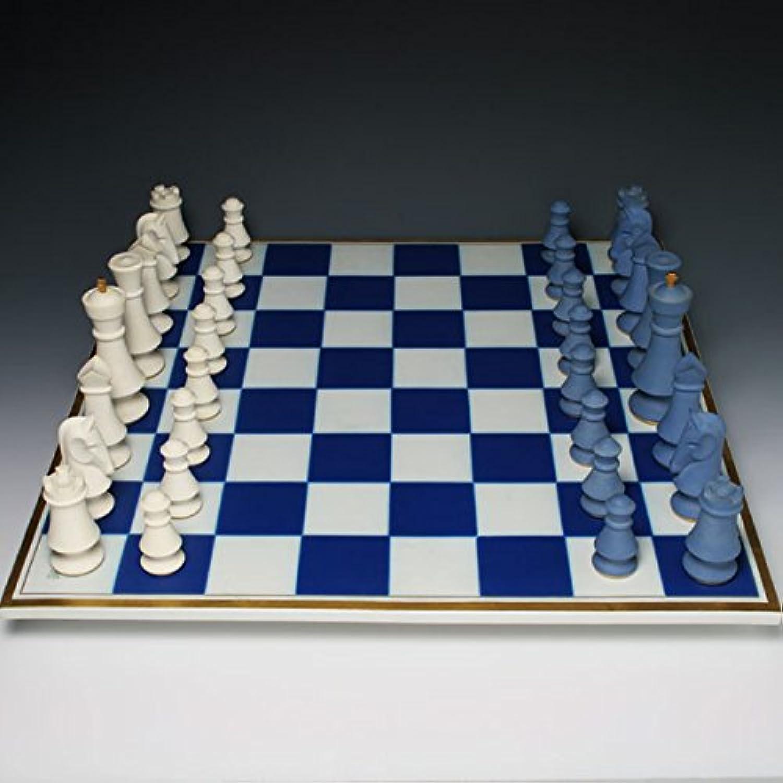 セーブル(Sevres) 超希少 磁器製 大きなチェス盤 1992年復刻 ハンドメイド 飾り物