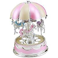 メリーゴーランド、Hometom merry-go-round Musicボックスクリスマス誕生日ギフトカルーセル音楽ボックス