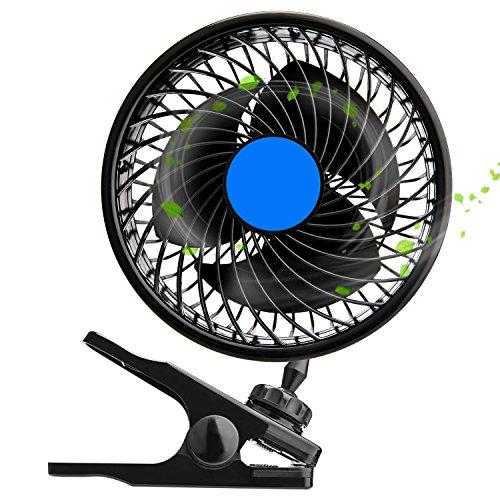 12V 6インチ 車載扇風機 クリップ扇風機 Boulou ...