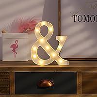 Kanodan LED イルミネーションライト【コンセント不要 お誕生日 ホームパーティー ウエディング 二次会飾り 照明 ライト デコレーション (字)