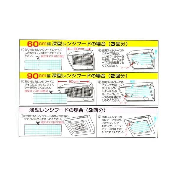 レンジフードフィルター フリーサイズ磁石付き ...の紹介画像3