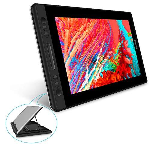 HUION液タブKamvas Pro13 液晶タブレットGT-133PRO傾き検知機能付き 筆圧8192充電不要ペン フフルラミネートスクリーンアンチグレアガラス搭載 13.3インチフルHD液タブ Adobe RGB92%