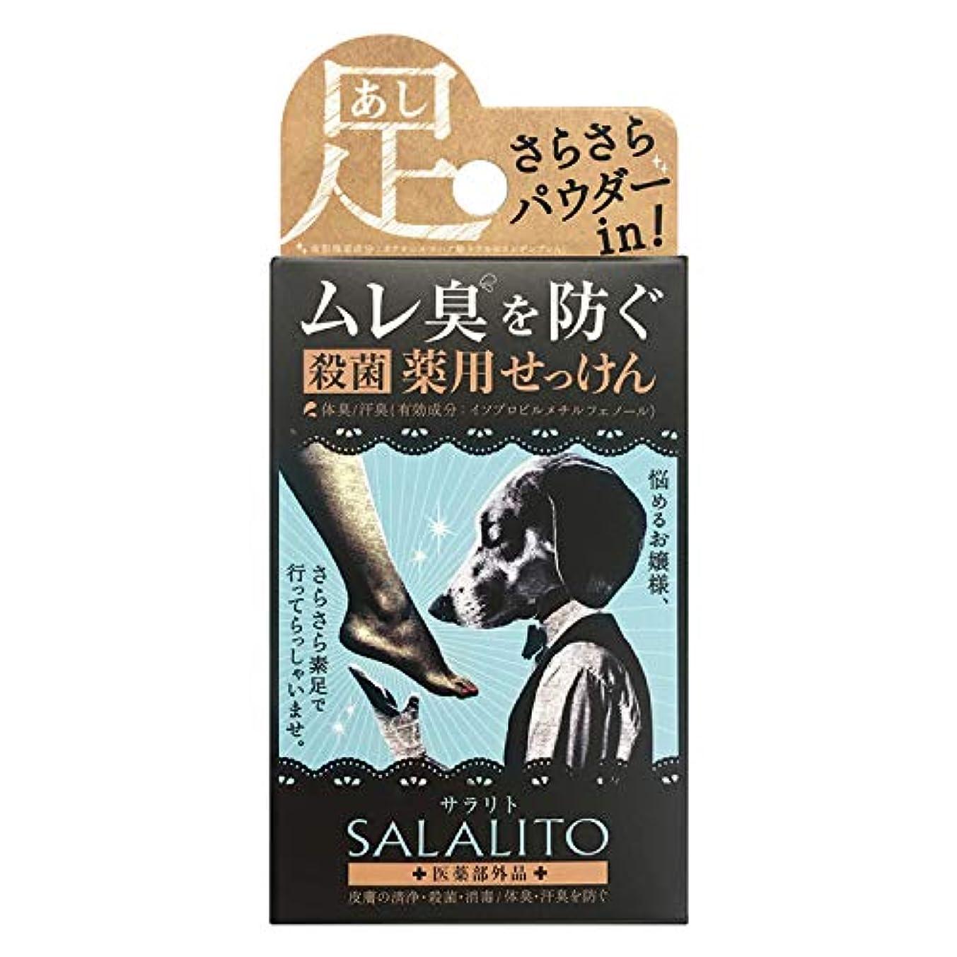 潜在的な国籍スリンクペリカン石鹸 薬用せっけんサラリト 足用 75g