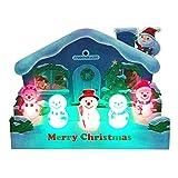サンリオ クリスマスカード 洋風 ライト&メロディ ポップアップ 家の前に立体スノーマン5個 S7330
