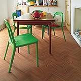 シンコール 住宅用クッションフロア Ponleum 木目 ウッド調 ヘリンボーン ( 巾1.8m 長さ1m x ご注文数) 型番: E6078 03M