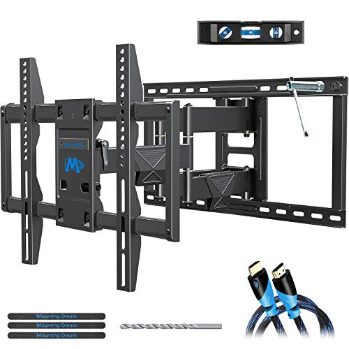 "Full Motion TV Wall Mount Bracket Holder Single Stud for 26-55/"" Samsung Vizio LG"