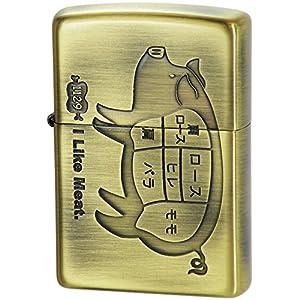 Zippo 灰皿・喫煙具 ゴールド 高さ5.2×幅3.8×奥行き1.3cm