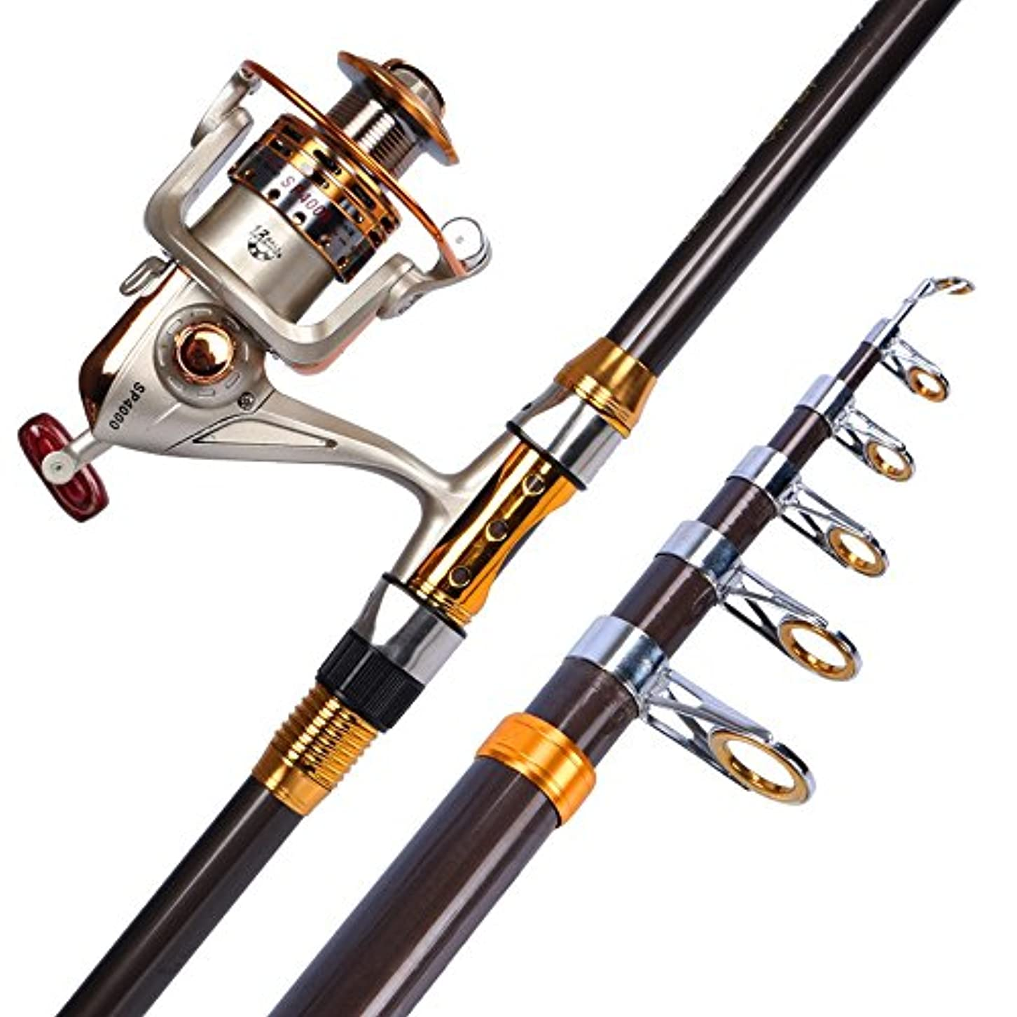 一晩レッスン間違えたLHA フライロッド 釣りロッドとリールアセンブリキットテレスコピック回転釣りリールギアと釣りアクセサリー