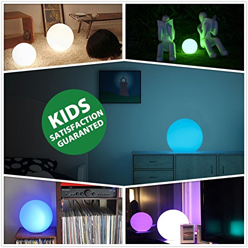 屋外 RGB 調光機能付き 8'' LED 電球 リモコン付き、充電式、ムードランプ、防水,ランプ、フローティング LED プールライト、ガーデンライト
