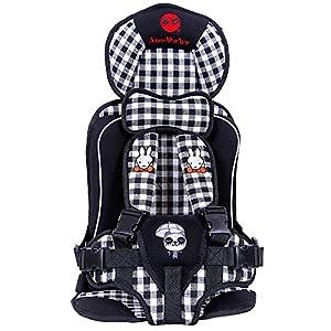 Ann baby チャイルドシート 簡易携帯式 取り付け簡単 子供キッズ幼児用 学童用 (White)