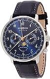 [ツェッペリン]ZEPPELIN 腕時計 ヒンデンブルク ネイビー文字盤 ムーンフェイズ表示 デイデイト 70363 メンズ 【正規輸入品】