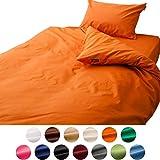 エムール ベッド用 布団カバー 3点セット クイーン エムールカラー 日本製 抗菌 防臭 防ダニ パッションオレンジ