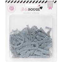 Bella Rouge Printed Transparent Alphabet 107/Pkg-Transparent (並行輸入品)