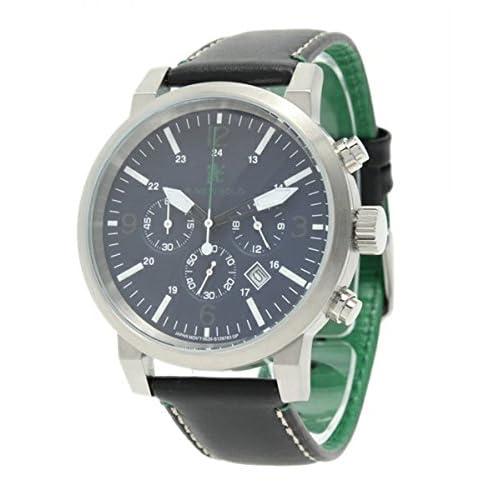 R.NEWBOLD(アールニューボールド) 腕時計 クロノグラフ メンズ レザーベルト ネイビー (並行輸入品)
