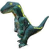 ハロウィン 恐竜 着ぐるみ 内蔵ファンで膨らむ大迫力のビッグサイズ 業務用コスチューム 高品質 蒸れない快適な着心地 ティラノサウルス Tレックス T-REX ラプトル ヴェロキラプトル ジュラシック ワールド コスプレ 衣装 軽量で動くのも楽々 コンパクトに収納可能 怪獣 ゴジラ モンスター 変装 仮装 コスチューム パーティー/イベント/学芸会/学園祭/クリスマス/忘年会で大活躍 USB電源&乾電池両方使用可 空気充填 エアー膨張式 日本語説明書同梱