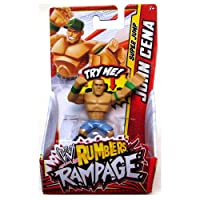 JOHN CENA (GREEN - JUMP) - WWE RUMBLERS RAMPAGE MATTEL TOY WRESTLING ACTION FIGURE
