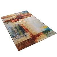 HWH ラグ、レトロインクの絵画印刷豪華な色のリビングルームベッドルームの紅茶のテーブルカーペットの床マット滑り止めで洗える| 120〜140センチメートル 長方形のカーペット (色 : B, サイズ さいず : 120 * 180CM)
