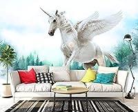 Minyose 壁紙 カスタム壁紙家の装飾的な壁画三次元油絵白鳥の湖の木の木テレビの壁3D壁紙