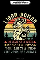 Composition Notebook: Womens Libra Woman the soul of a witch September October Birthday  Journal/Notebook Blank Lined Ruled 6x9 100 Pages