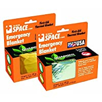 Emergency SPACE Blanket - Gold- 24 ct. by MegaDeal